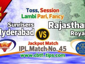 IPL 2019 RR vs SRH Match No. 45th Prediction SRH vs RR