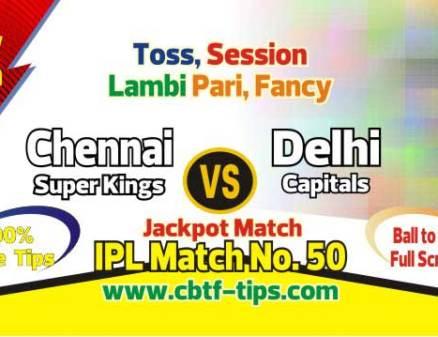 Lagai Khai CSK vs DEL 50th Match Prediction & Betting Tips - IPL T20