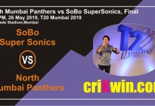 Cricket Match Prediction 100% Sure SS vs NMP MPL T20 Final T20 Mumbai