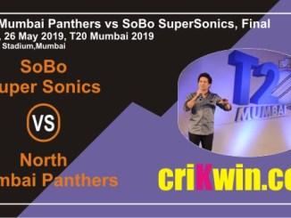 Cricket Match Prediction 100% Sure SS vs NMP MPL T20 Final T20 Mumbai