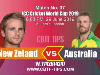 World Cup 2019 Aus vs NZ 37th Match Reports Betting Tips