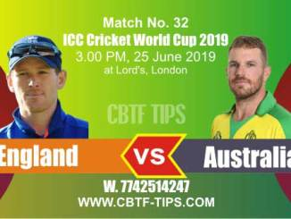 World Cup 2019 Eng vs Aus 32nd Match Reports Betting Tips