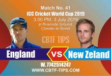 World Cup 2019 Eng vs Nz 41st Match Reports Betting Tips