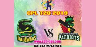 CPL 2019 Cricket Betting Tips JT vs SKNP 16th Match Who will win today's Sure Reports Toss Session Lambi Pari