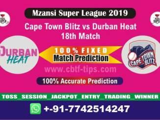 CTB vs DUR 18th Mzansi Super League T20 Match Reports Betting Tips