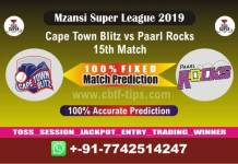 CTB vs PR 15th Mzansi Super League Match Reports Cricket Betting Tips