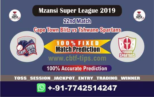 CTB vs TST 22nd Mzansi 2019 T20 Match Reports Betting Tips - CBTF