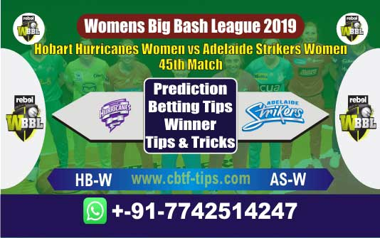 HB-W vs AS-w 45th Womens Big Bash League 2019 Match Reports Cricket Betting Tips