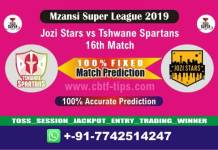 JOZ vs TST 16th Mzansi Super League Match Reports Betting Tips-CBTF