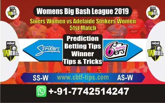 WBBL 2019 Today Match Prediction SSW vs ASW 51st, Who Will Win