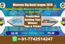 ASW vs PSW Semi Final Big Bash 2019 Reports Betting Tips - CBTF