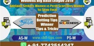ASW vs PSW Semi Final Big Bash 2019 Reports Betting Tips - CBTF