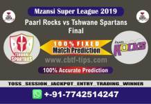 PR vs TST MSL 2019 Final 100% Fixed Match Reports Betting Tips CBTF
