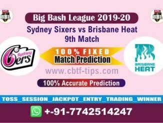 SIX vs HEA Big Bash League 2019-20 Fixed Match Reports Betting Tips