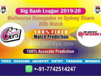MLR vs SYS Big Bash League 2020 20th Match Fixed Cricket Betting Tips