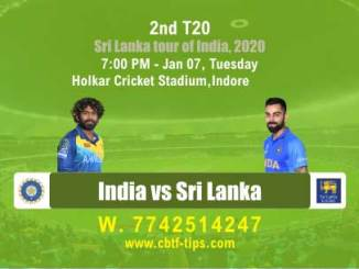 SL vs Ind Sri Lanka tour of India 2nd T20 Match Real Sure Betting Tips