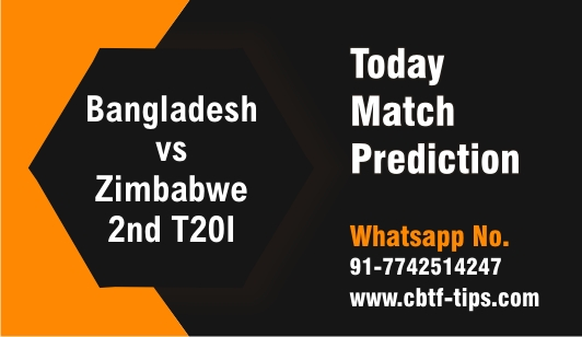 Ban vs Zim 2nd T20 Sure Winner Prediction cricketbettingtipsfree