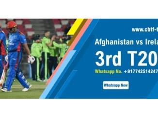 AFG vs IRE 3rd International T20 Sure Winner Prediction CBTF