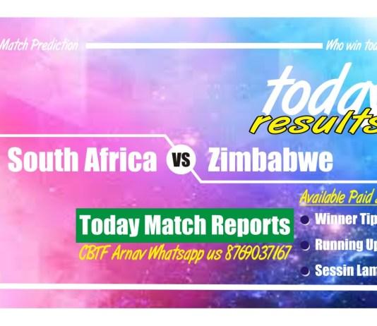 Today Match Tips South Africa vs Zimbabwe 2nd ODI