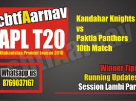 APL 2018 Paktia vs Kandhar 10th Today Match Prediction