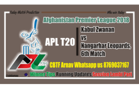 Today Match Reports APL T20 Kabul vs Nangarhar 6th Match