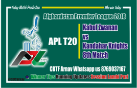 Today Match Prediction Kandhar vs Kabul 8th APL T20