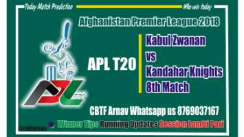 Today Match Prediction Kandhar vs Kabul 8th APL T20