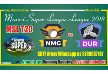 MSL 2018 8th Match Durban Heat vs Nelson Mandela Bay Giants Tips
