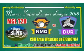 MSL 2018 8th Match Durban Heat vs Nelson Mandela Bay Giants Tips