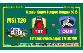 Tshwane Spartans vs Durban Heat MSL 2018 6th Match Tips