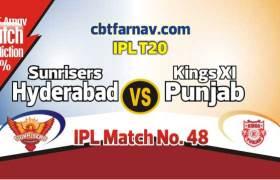 SRH vs KXIP Today IPL Match No 48th Prediction 100% sure Win Tips