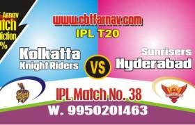 Hyderabad vs Kolkatta Today IPL Match No 38th Prediction 100% Sure Tips