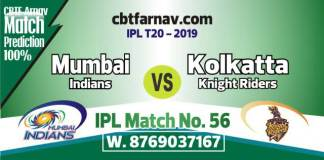 MI vs KKR Today IPL Match No 56th Prediction 100% sure Win Tips