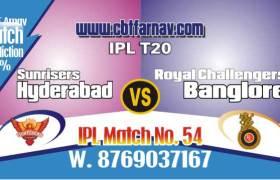 RCB vs SRH Today IPL Match No 54th Prediction 100% sure Win Tips