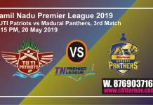 TNPL 2019 3rd TP vs SMP Today Match Prediction Toss Session