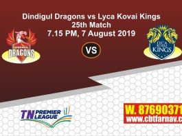 TNPL 2019 LYC vs DIN 25thth Match Report Today Toss Lambi Pari
