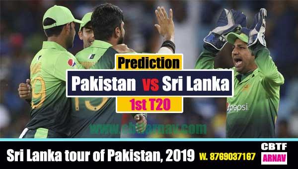 Lanka vs Pak 1st T20 Match CBTF Win predictor Tips
