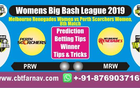 PSW vs MRW 8th WBBL 2019 Today Match Prediction Cricket Betting Tips