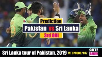 SL vs Pak 3rd ODi Today winning team Cricket match predictions 100 sure Win Tips
