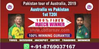 Aus vs Pak 1st T20 Today Match Prediction Cricket Betting Tips Free Toss