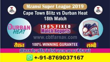 DUR vs CTB Match Prediction Reports & Betting Tips –18th Match Mzansi
