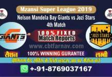 JOZ vs NMG 4th MSL 2019 Today Match Prediction Cricket Betting Tips