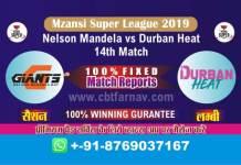 Match Prediction Reports Durban vs Nelson 14th Mzansi 2019 Betting Tips