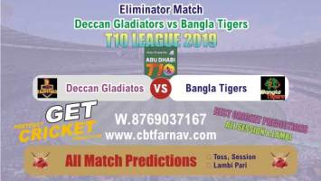 T10 League Bangla vs Gladiators Eliminator Match Prediction Reports Today Betting Tips