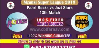 Today Match Reports Jozi vs Parl 13th Mzansi T20 Betting Tips Prediction