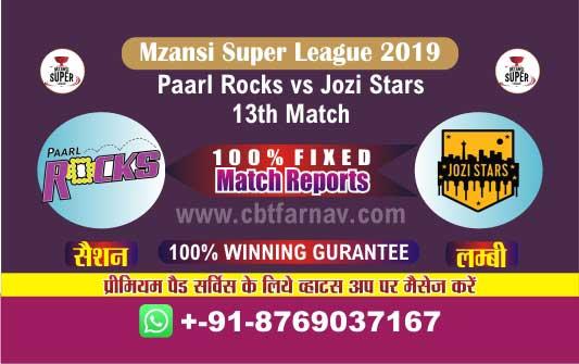 Today Match Reports Jozi vs Parl 13th Mzansi T20 Betting Tips Prediction