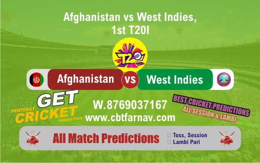 WI vs AFGH 1st T20 Cricket Win Tips Today Match Prediction Reports Tips