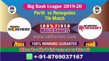 BBL 2020 Renegades vs Perth 7th Match Betting Tips Prediction CBTF