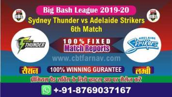 BBL T20 Adelaide vs Thunder 6th Match Betting Tips Prediction Reports