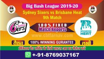 BBL T20 BRH vs SYS 9th Match Betting Tips Match Prediction Reports